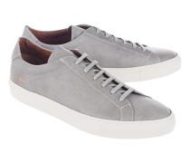 Flache Leder-Sneakers  // Achilles Premium Grey