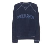 Sweatshirt mit Label-Print  // Classic Raglan Fit Navy