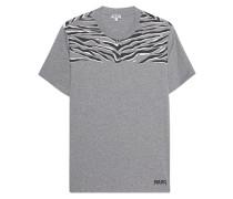 Baumwoll-T-Shirt mit Zebra-Print