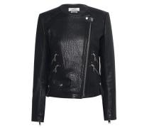 Jacke aus geprägtem Lammleder  // Kankara Black