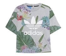 Bedrucktes Shirt mit Zipper-Detail  // Train Boxy Tee Grey