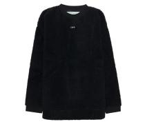 Teddyplüsch-Sweatshirt mit Rückenprint  // Seeing Things Shearling Black