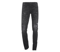 Rocco Biker Relaxed Skinny Black