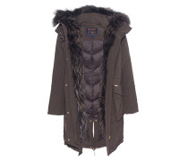 Daunenparka mit Fell-Besatz  // Military Parka Fox Brown