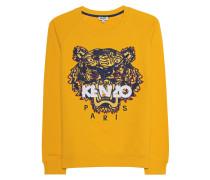 Baumwoll-Sweater mit Logo-Stickerei  // Sweater Tiger Marigold