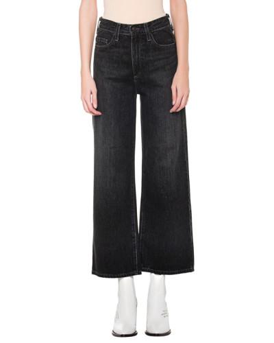 Ausgestellte High-Waist Jeans