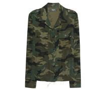 Gemustertes Baumwoll-Kaschmir-Hemd  // Military Green