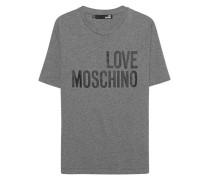 T-Shirt mit Print  // Logo Statement Back Grey