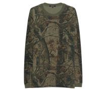 Gemustertes Sweatshirt  // Wolves Olive