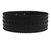 Breiter Leder-Taillengürtel  // Woven Waist Black