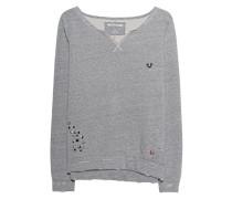 Meliertes Sweatshirt  // Destroyed Crew Dark Marl