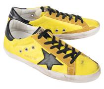 Flache Leder-Sneaker  // Superstar Lemon Nylon Black Star