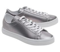 Flache Leder-Sneakers  // Court Vantage Night Met
