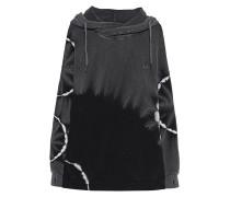 Baumwoll-Hoodie im Batik-Look  // Batik Relax Black