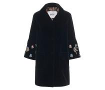 Samt-Jacke mit Stickerei  // Velvet Trumpet Sleeves Black