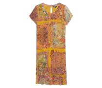 Kurzarm-Kleid mit Allover-Musterung