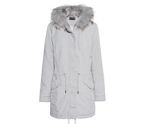 Parka mit abnehmbarem Fell-Besatz  // Basic Fur Light Grey