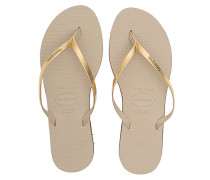 Gummi-Zehensandalen  // You Metallic Gold