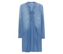 Adelise Indigo Lace Up Shirtdress