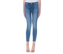 Skinny-Jeans mit Fransensaum  // Looker Ankle Fray Birds Of Paradise