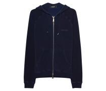 Baumwoll-Zipper-Hoodie  // Hoodie Zip Navy