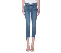 Knöchellange Skinny-Jeans mit Cut-Out