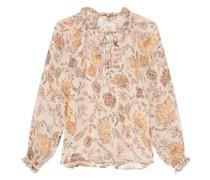 Bluse mit floralem Print und Binde-Detail