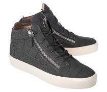 Sneaker mit strukturiertem Leder  // May London Sombry Cemento Kriss Anhracite