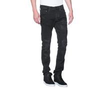 Destroyed Skinny-Jeans  // Rocco Destroyed Black Denim