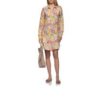 Leinen-Hemdkleid mit Blumen-Print