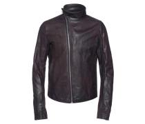 Lederjacke mit Stehkragen  // Horse Leather Violet