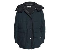 Long-Jacke mit abnehmbarer Kapuze  // Bulle Black