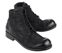 Glattleder-Boots im Used-Look  // Ullmat Black