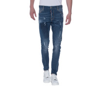 Destroyed-Slim-Fit-Jeans  // Sexy Twist Jean Blue