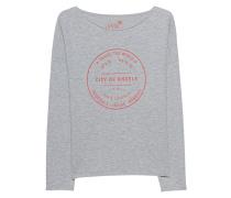 Sweatshirt mit Flockprint  // City Of Angels Grey Melange