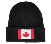 Rippstrickmütze aus Wolle  // Canada Black