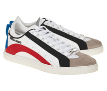 Leder-Sneaker mit Streifen-Details