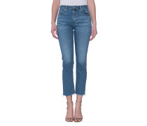 High-Rise Cropped Straight-Leg Jeans  // The Isabelle 14 Years Daring