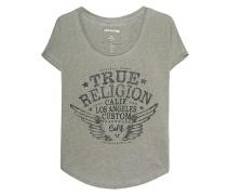 T-Shirt mit Strassstein-Verzierung  // Collar Shirt Artwork Dusty Olive