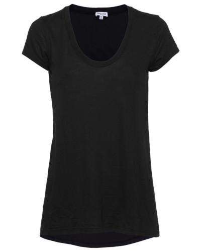 Baumwoll-Modal-T-Shirt  // Very Light Jersey Shortsleeve Black