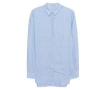 Oversize Leinen-Bluse  // Bela Li Blue