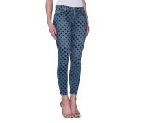 Gepunktete Skinny Jeans  // The Stiletto Flocked Dot