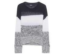 Chunky Knit Stripe Grey