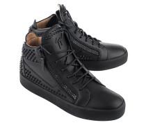 Leder-Sneaker mit Nieten  // May London Kriss Studs Black