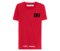 Baumwoll-T-Shirt mit Logoprint  // Big Oversize Tee Red
