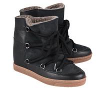 Wedge-Ankle-Snowboots aus Kalbsleder  // Nowles Black