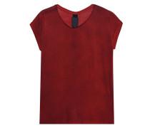 T-Shirt mit Schlitz  // Shirt Dirt Red