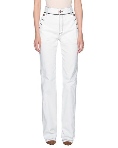 Bootcut-Jeans mit Knopf-Details