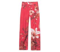 Gemusterte Seidenhose  // Flower Red