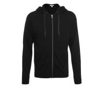 Baumwoll-Zipper-Hoodie  // Vintage Fleece Hoodie Black